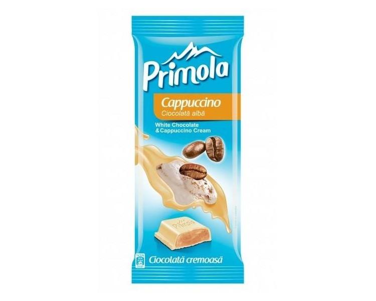 Ciocolata Primola Alba cu Cappuccino Tableta