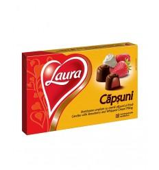 Bomboane Laura cu Cremă de Căpșuni