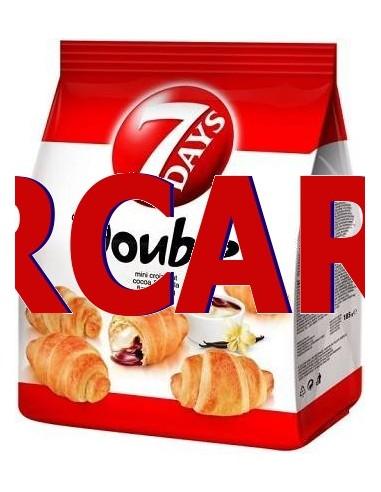 Double Mini Croissant cu Vanilie È™i Cacao 7Days 185g