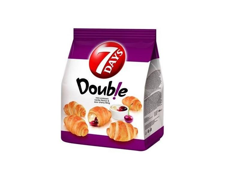 Double Mini Croissant cu Vanilie È™i ViÈ™ine 7Days, 185g