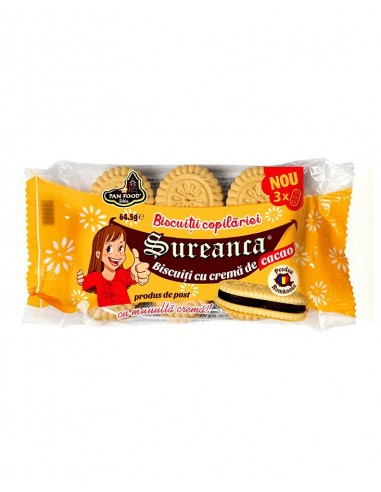 PAN FOOD SUREANCA GALLETAS CACAO 64.5G/24