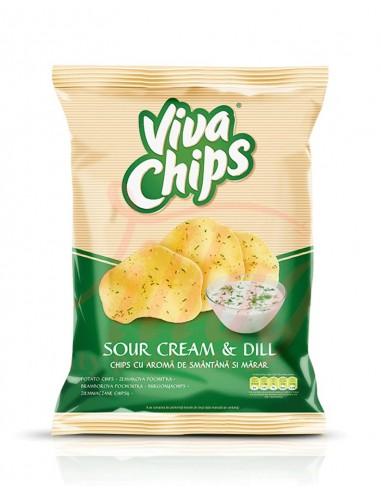 Viva Chips Smantana-Marar 100G