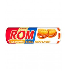 Biscuiti Sandvis Rotund Rom-Cacao 140G*30