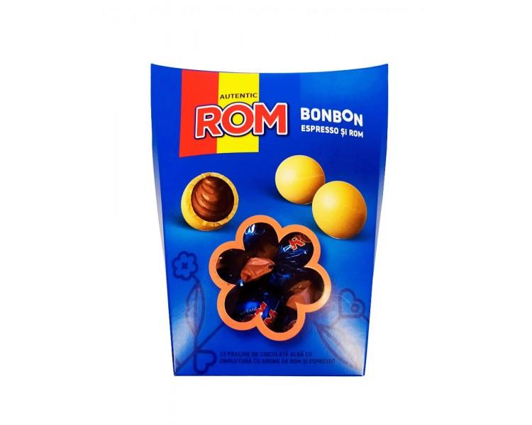 KANDIA PRALINE BON BON ALB ESPRESSO-ROM 130G/12