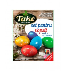 TAKE KIT PINTURA 5 COLORES (50 HUEVOS) 20G/10